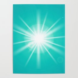turquoise and light effect Poster