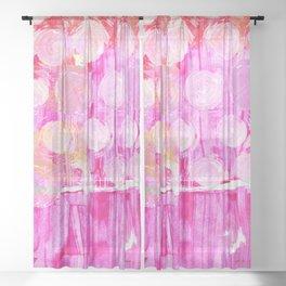 Luminosity of cerise Sheer Curtain
