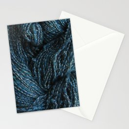 Navy Night Sky Sparkle Hand Spun Yarn Stationery Cards