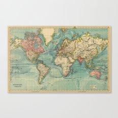 Adventure Awaits (World Map) Canvas Print