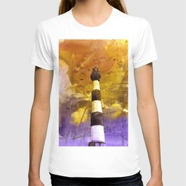 Fine art watercolor painting of Bodie Island lighthouse at sunset in the Outer Banks (OBX) of North Carolina- USA T-shirt
