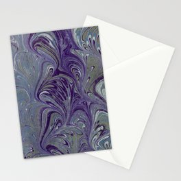 Purple, Blue, & Green Marbled Stationery Cards