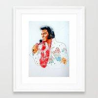 elvis presley Framed Art Prints featuring Elvis presley by calibos
