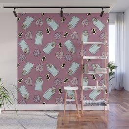 Eat Me, Drink Me -Pink Wall Mural