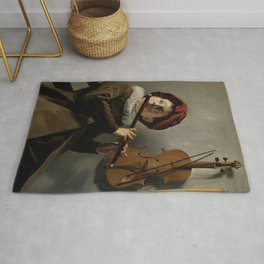 """Judith Leyster """"Boy playing the Flute"""" Rug"""