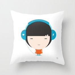 Helmet Girl: Jam Throw Pillow