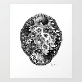 Redhorse Black Art Print