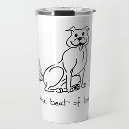 A Dog's Serenade: The Beat of Love Travel Mug