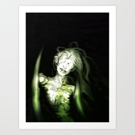 she's in the woods Art Print