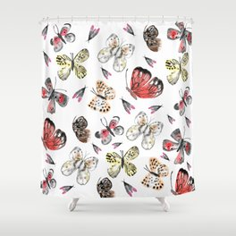 Fly fly butterfly Shower Curtain