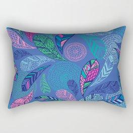 Feather Doodle Rectangular Pillow
