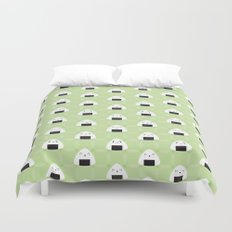 Kawaii Onigiri Rice Balls Duvet Cover