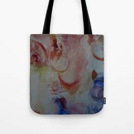 ultramarine, crimson, ochre abstract Tote Bag