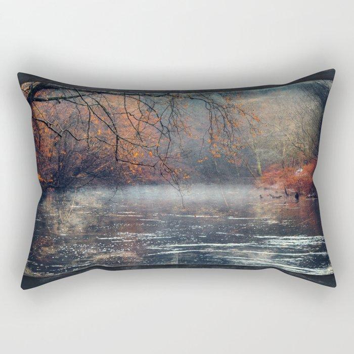 between fall & winter Rectangular Pillow
