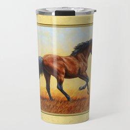 Running Bay Horse Travel Mug