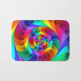 Psychedelic Rainbow Spiral  Bath Mat