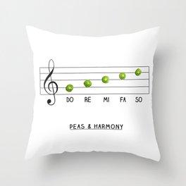 Peas & Harmony Throw Pillow