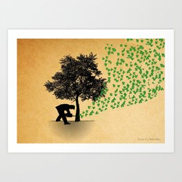 Trees Cry Butterflies Art Print