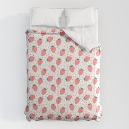 Cute strawberry pattern Comforters