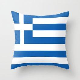 Flag of Greece Throw Pillow