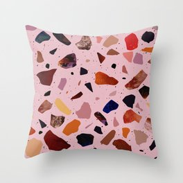 Terrazzo Rosé Throw Pillow