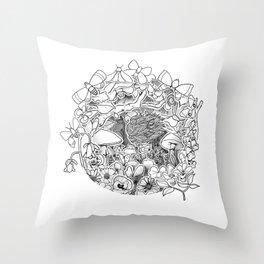 Swing (3D papercut) Throw Pillow