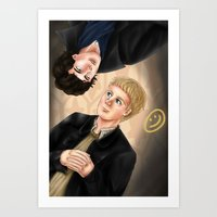 johnlock Art Prints featuring Johnlock by Vii Victory