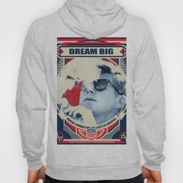 John F Kennedy Cigar and Sunglasses Rise Poster Hoody