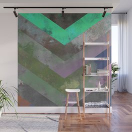 Look Down (Abstract, pastel, geometric artwork) Wall Mural