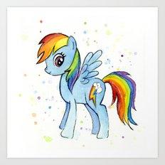 Rainbow Dash MLP Pony Art Print