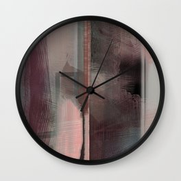 Zen Sunset - Contemporary Abstract Wall Clock