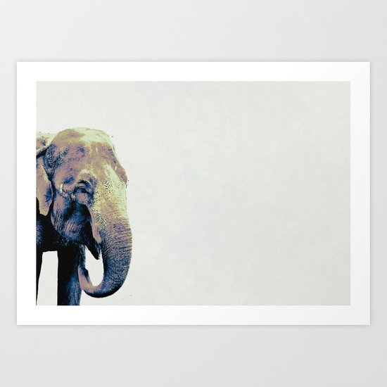 """E"" Is For Eventually : The Elephant Never Forgets Art Print"