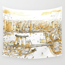 Marina Bay with Coffee Wall Tapestry