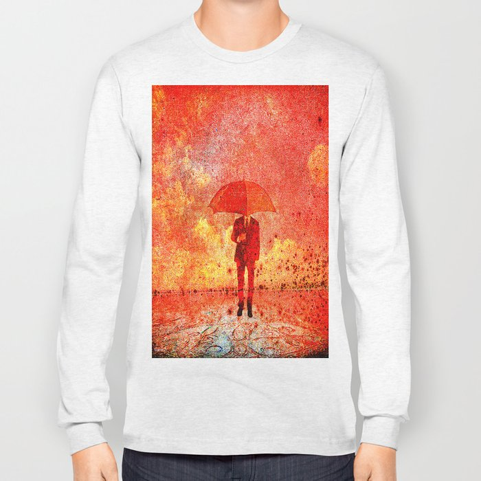 The man in the umbrella Long Sleeve T-shirt