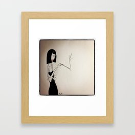 Smoking Lady Framed Art Print