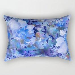 Wild Blue Rose Garden Rectangular Pillow