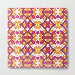 Summer Colors Pattern Metal Print