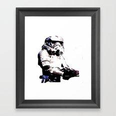 Paper Trooper Framed Art Print