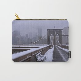 Brooklyn Bridge winter morning 2 Carry-All Pouch