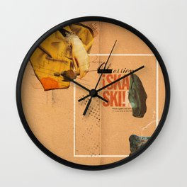 """Prescriptions and Placebos"" - Mixed Media 1 of 2 Wall Clock"