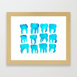 Turquoise Molars - Horizontal Framed Art Print