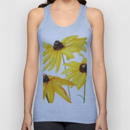 yellow flower sun choke flower Unisex Tank Top