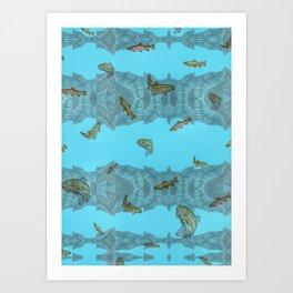Freshwater Trout. Art Print