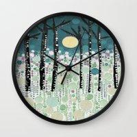 sandman Wall Clocks featuring :: Moonlight Kiss :: by :: GaleStorm Artworks ::
