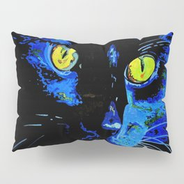 Marley The Cat Portrait With Striking Yellow Eyes Pillow Sham