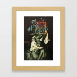 Florales Portrait Disaster Framed Art Print
