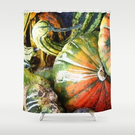 Squashed Together Shower Curtain