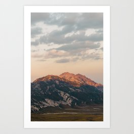 Red mountain, 2017 Art Print