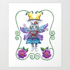 Angel Kitty Art Print