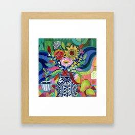 Late Summer Blooms Framed Art Print